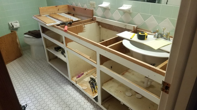 Converting A Single Sink Vanity Into A Dual Sink Vanity The